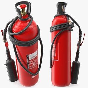 3D co2 extinguisher 20kg model