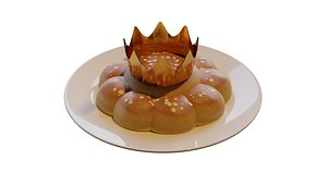 king cake 3D model