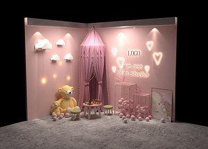 3D Web celebrity photo wall interactive decoration tent  light LOGO booth  luminous booth creative