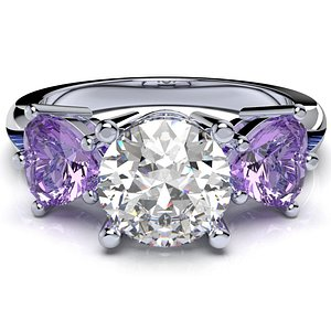 engagement ring women wedding model