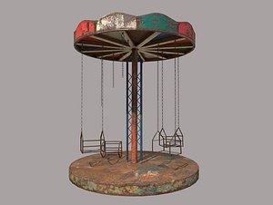 3D rusty carousel