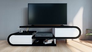 3D high-gloss tv cabinet