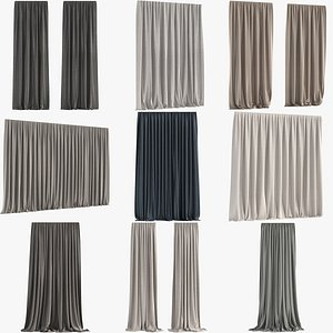 Collection of Curtains 3D model