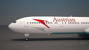 3D austrian airlines 777 300 model