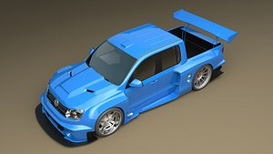 3D amarok pickup gt3 model