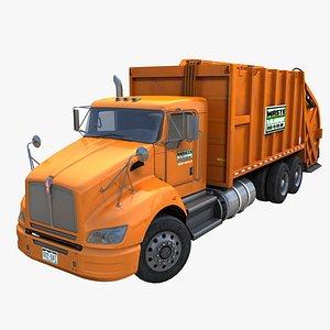 3D Industrial garbage truck PBR