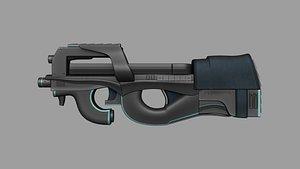 p90 gun weapon 3D model