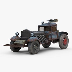 Post Apocalyptic Hot Rod 3D model