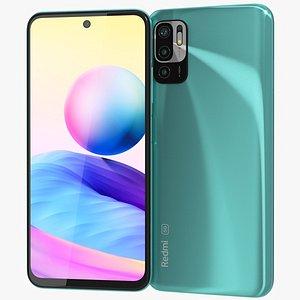 3D Xiaomi Redmi Note 10 5G Aurora Green