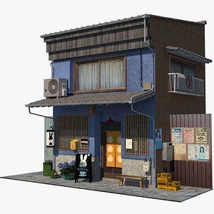 old japanese restaurant 3D model