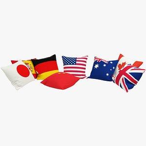 3D model Flags Pillows V1
