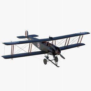 3D model avro 504k biplane