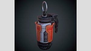 Scifi Grenade PBR 3D model