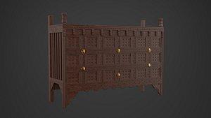 sideboard furniture furnishing 3D model