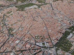 3D madrid city model