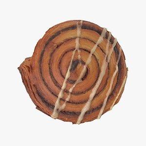 3D cinnamon swirl