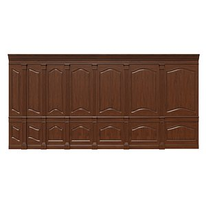 Wooden panels 21 3D