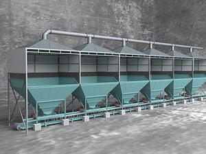 Plant warehouse industrial equipment blanking machine machinery 3D