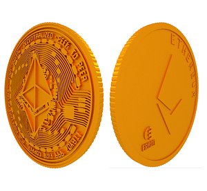 3D bitcoin money currency model