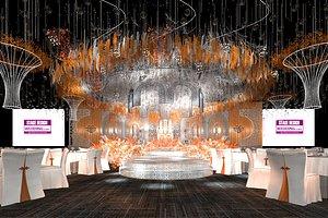 3D model stage hall wedding