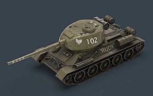 3D model t 34 rudy