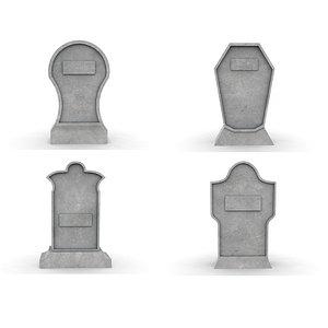 gravestone pack 3D
