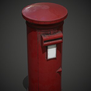 Letterbox PBR Game Ready 3D model