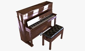 upright piano bench 3D model