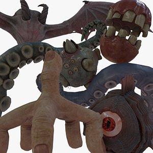 3D Eldritch Horrors PBR Model Pack