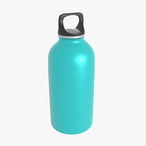 3D Light Blue Flask model