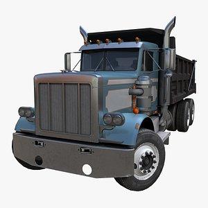 American Dump truck PBR 3D model