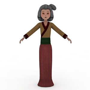 3D Woman Villager Rigged