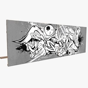 graffiti billboard 3D model
