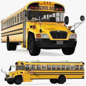 3D Blue Bird Vision School Bus