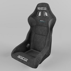 3D Sparco EVO L QRT Sports Racing Seat Suede