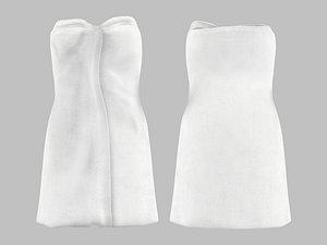 Wrapped Body Around Bath Towel 3D model