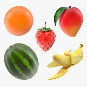 Cartoon Fruits Collection 3 3D model