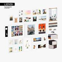 L3DV05G08 - photo frames boxes set