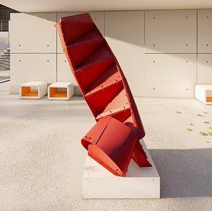 Escalera Edgar Negret 3D model