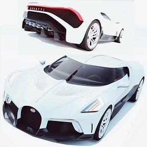 3D Bugatti La Voiture Noire model