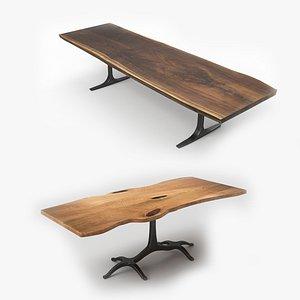 Wood Slab Dining Tables 3D model