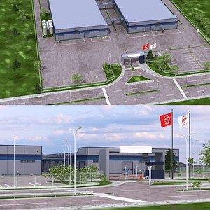 Warehouse Factoy Scane model