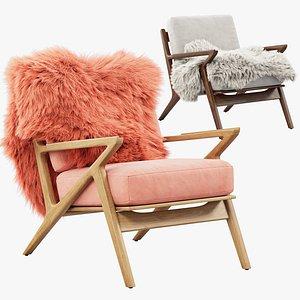 3D Joybird Soto Concave Arm Chair 2