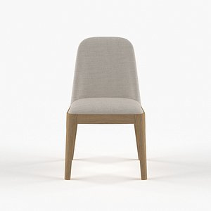 Bryce Armless Dining Chair 3D model