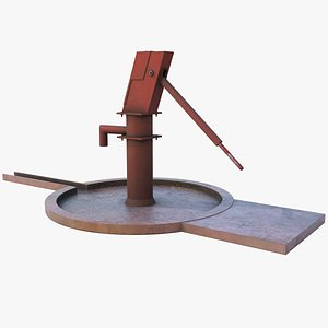 3D Rural Hand Water Pump- GameReady LowPoly Asset model