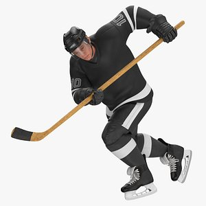3D model hockey attacker character 02