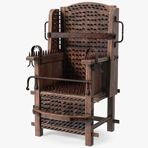 Medieval Spiked Torture Chair model