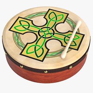 3D model bodhran drum