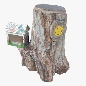 Tree Trunk Happy 3D model