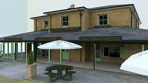 3D building village restaurant